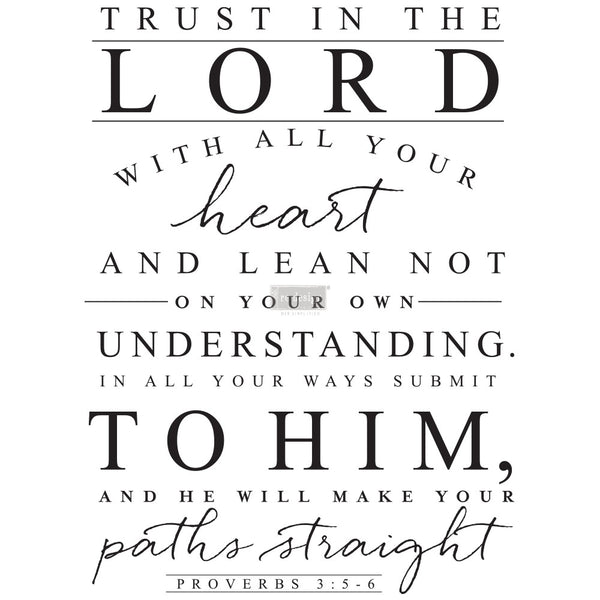 Re-design Decor Transfer - Trust in the Lord Transfers > rub on transfers > redesign transfers
