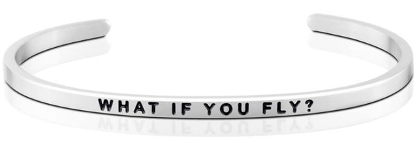 What If You Fly Jewellery > Affirmation Bracelet > Mantra Bands Silver