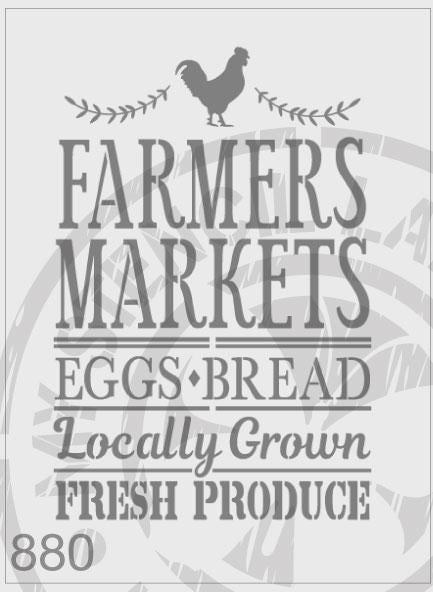 Farmers Market - MSL 880 Stencil Large (sheet size 210x295mm)