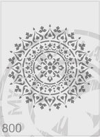 Mandala - MSL 800 Stencil Medium – 125mm cutout (sheet size 140 x 210mm)