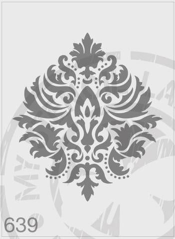 Damask Flourish - MSL 639 Stencil Large (sheet size 210 x 295mm)