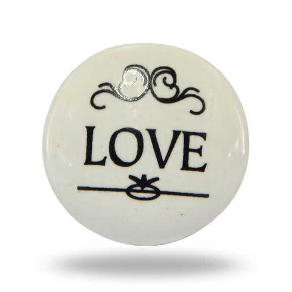 Ceramic Love Flourish Knob