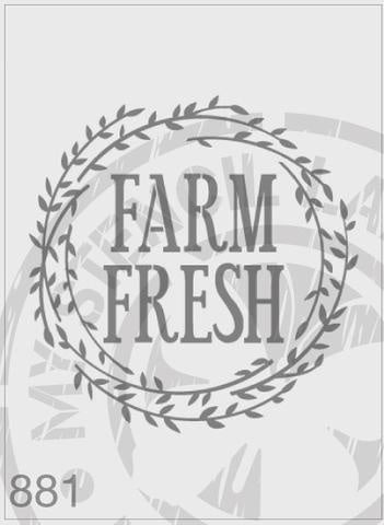 Farm Fresh Wreath - MSL 881 Stencil Large 185mm cutout (sheet size 200x200mm)