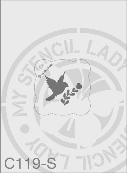 MSL C119 Stencil Small Round 65mm Max Design cutout (sheet size 95x