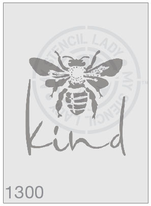 Bee Kind - MSL 1300 Stencil Large - 185mm Cutout (Sheet Size 200x200mm)