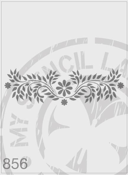 Floral - MSL 856 Stencil Small (sheet size 95 x 200mm)