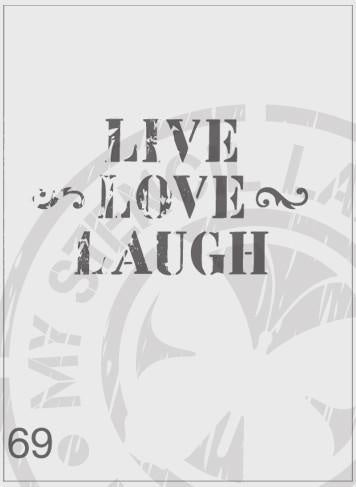 Rustic Live Love Laugh - MSL 069 General
