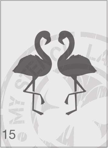 Flamingo Pair - MSL 015 Stencil Medium (Sheet Size 140x210mm)