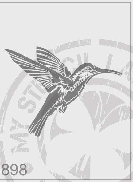 Hummingbird - MSL 898 Stencil Medium - Design 127x167mm (Sheet Size 140x210mm)