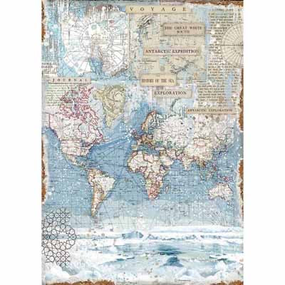 Stamperia Rice Paper -A3 - Antarctic Exploration