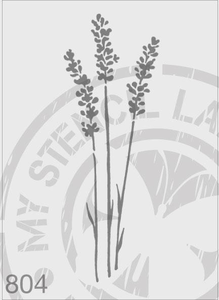 Lavender - MSL 804 Stencil Medium - 80x230mm Design (Sheet Size 95x315)