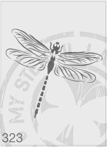 Dragonfly - MSL 323 Stencil Medium - Sheet Size 140 x 210mm)