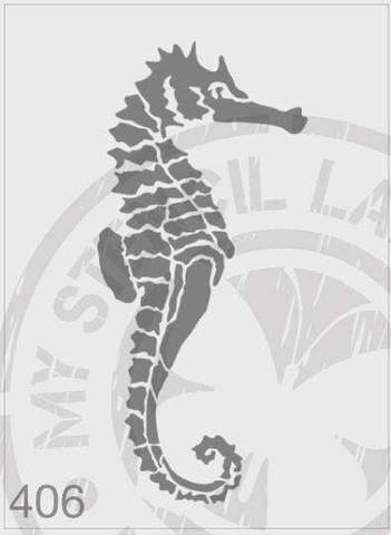 Seahorse - MSL 406 Stencil Medium - 88x195mm Design Cutout (Sheet Size 140x210mm)