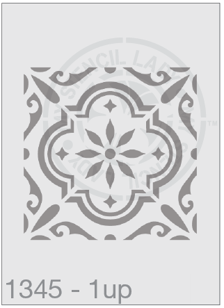 Tile Stencil - Square Repeat Pattern stencil - MSL 1345