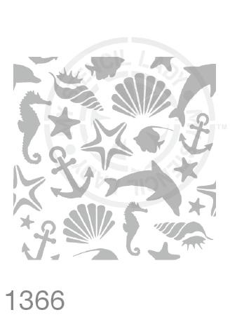 Beach / Ocean Theme Continuous Pattern -  MSL 1366