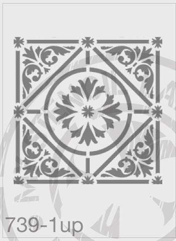 Tile Stencil 1UP- MSL 739 Stencil Large 1UP - 185mm Full Cutout (Sheet size 200x200mm)