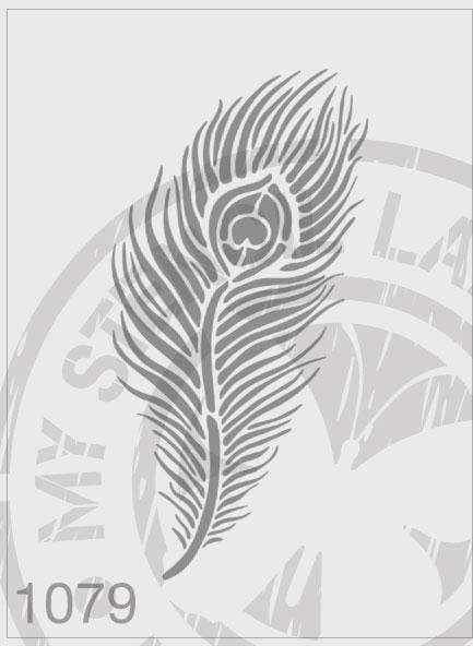 Peacock Feather - MSL 1079 Stencil Medium - (Sheet Size 140x210mm)