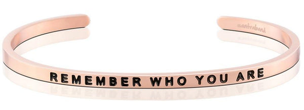 Remember Who You Are Jewellery > Affirmation Bracelet > Mantra Bands Rose Gold