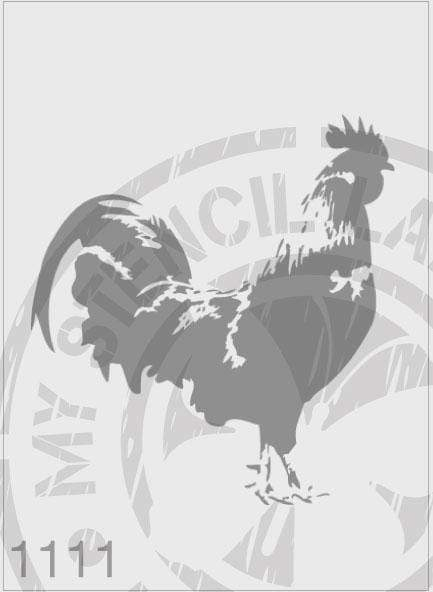 Rooster - MSL 1111 Stencil Medium - 140mm Cutout (Sheet Size 155x155mm)