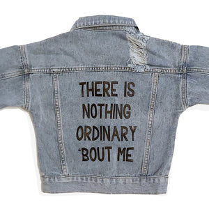 There is Nothing Ordinary 'Bout Me Light Wash Distressed Denim Jacket - THE CHEVRON HEART