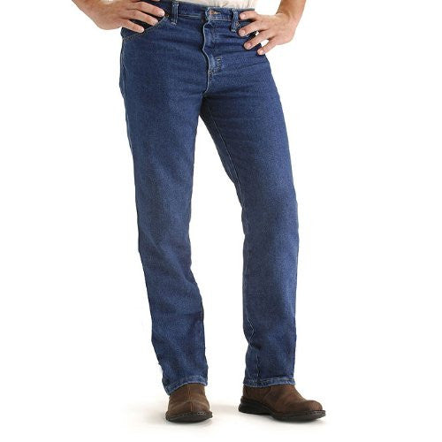 Lee Men's Regular Fit Straight Leg Jean, Pepper Wash Stretch, 40W x 30L