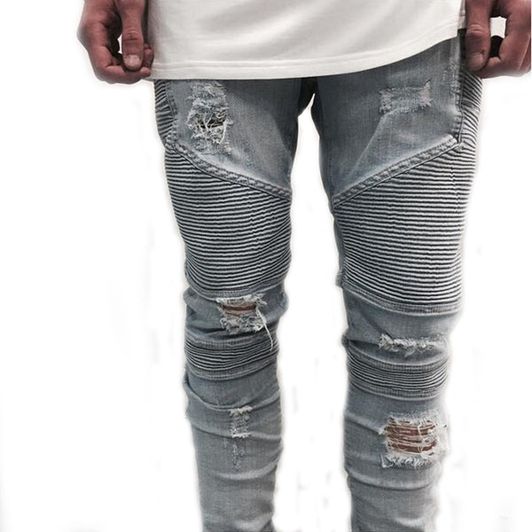 Men Distressed Slim Fit Denim