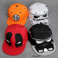 Star Wars-Deadpool-Dragon Ball-Snapback Caps