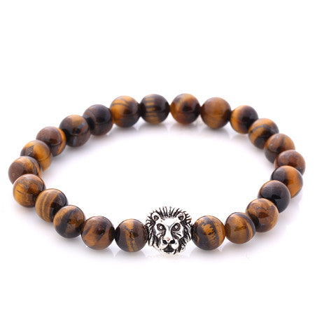 4 Colors Vintage Beads Buddha Bracelet w/ Lion