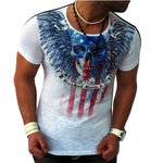 Mens Skull Flag T Shirt