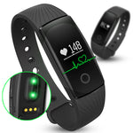 ID107 Smartband Heart Rate Monitor Wristband Fitness Flex Bracelet for Android iOS