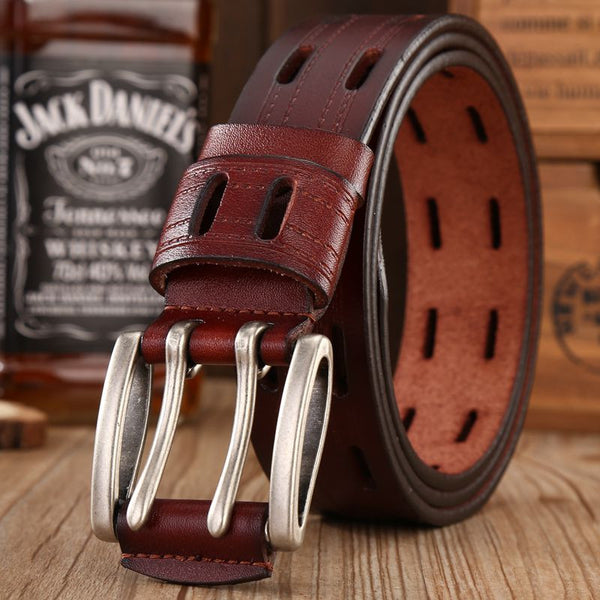 Leather Needle Buckle Belt