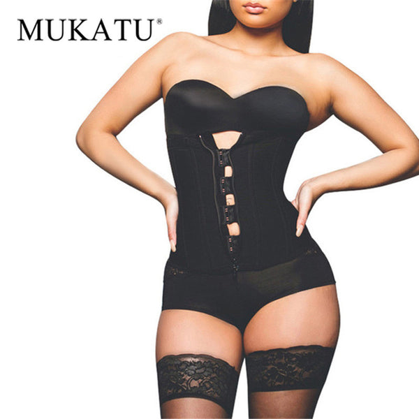 Zipper Latex Slimming Shapewear