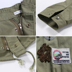 Army Green Embroidery Bat Sleeve Jacket