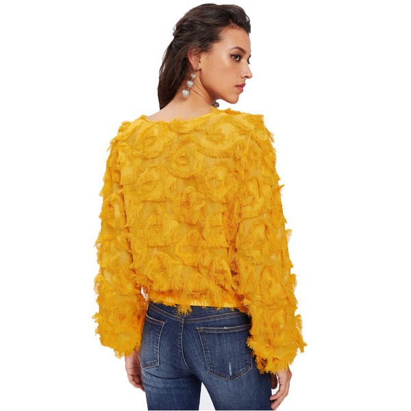 Fringe Patch Gold Top