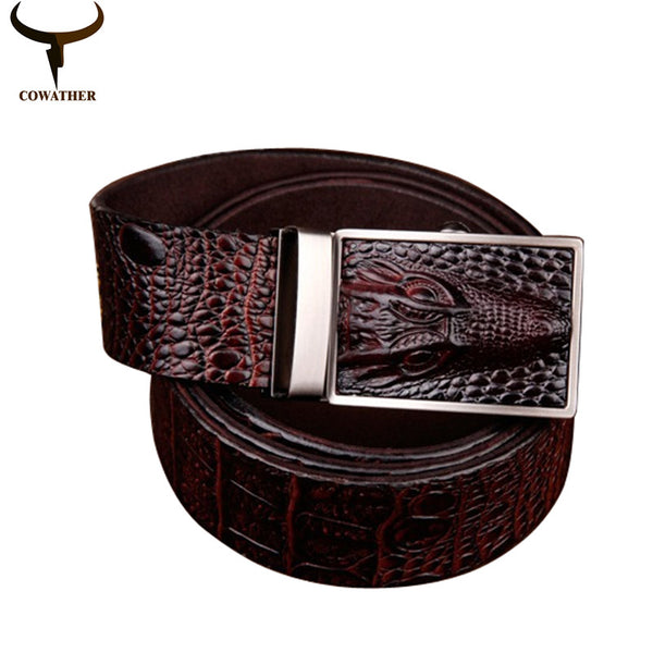 Genuine Leather Alligator Pattern