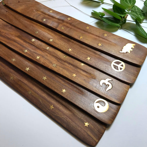 Flat Wood Incense Burner