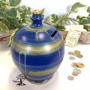 Terramundi Money Pot - Watercolor Starry Night - Shop The Whispering Tree Inc - Grande Prairie, AB Canada. Make a wish! Fill it up! Smash the Pot! Handcrafted in Italy. Hand painted in Italy. Adult Piggybank! Money saver! Great gift idea for all occasions. Large selection of Terramundi Money Pots available.