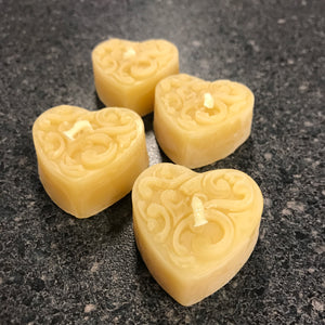 Beeswax Heart Candle