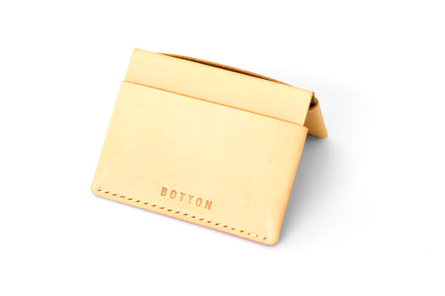 Rainier Wallet | Natural Veg Tan,Wallets - Botton Studio
