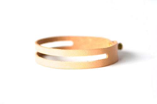 Everyday Bracelet | Natural Veg Tan,Bracelets - Botton Studio