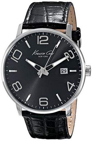 Kenneth Cole New York Men's KC8005 Dress Sport Black Dial Black Strap Analog Watch