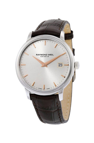 Raymond Weil Toccata Stainless Steel Silver Dial Calendar Mens Strap Watch 5488-SL5-65001