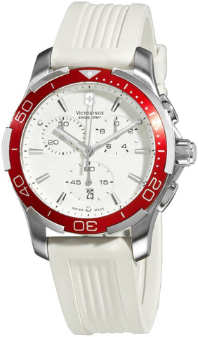 Swiss Army Alliance Sport Chronograph Quartz Steel Womens Watch White Strap Date 241504