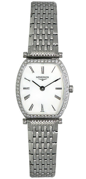 Longines La Grande Classique Stainless Steel & Diamond Womens Luxury Watch L4.288.0.11.6