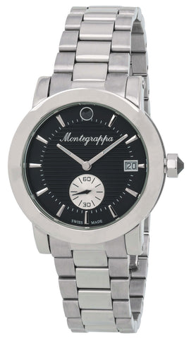 Montegrappa Nerouno Black Dial Date Stainless Steel Quartz Women's Watch IDLNWA11