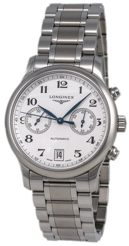 Longines Master Collection Automatic Chronograph Stainless Steel Mens Watch L2.669.4.78.6