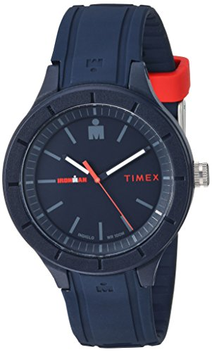 Timex TW5M17000 Ironman Essential Urban Analog 42mm Navy/Red Silicone Strap Watch