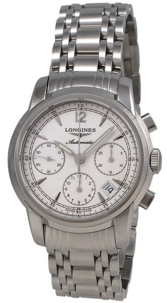 Longines Saint-Imier Automatic Chronograph Steel Mens Watch Silver Dial Calendar L2.752.4.72.6