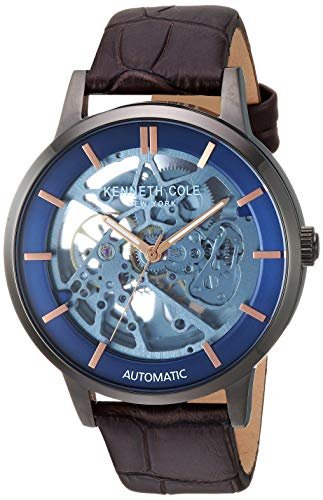 Kenneth Cole New York Men's Quartz Stainless Steel Case Leather Strap /Stainless Steel Bracelet Casual Watch,(Model:KC50559001/02)