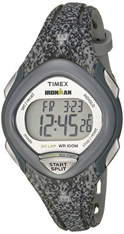 Timex Women's TW5M08800 Ironman Sleek 30 Blue Speckled Resin Strap Watch